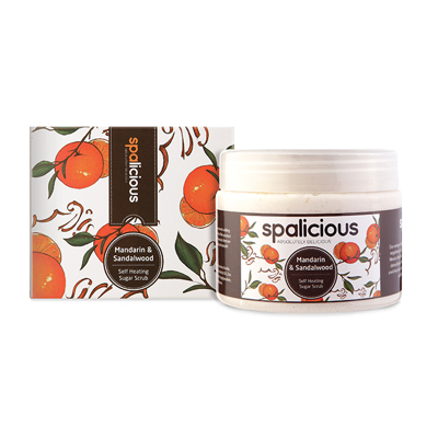 Mandarin & Sandalwood Self Heating Scrub 350ml