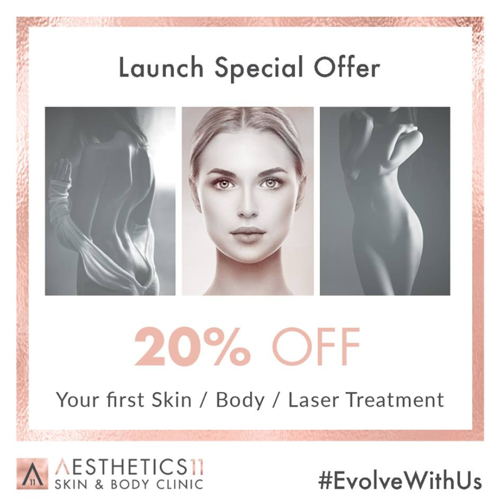 20% Off your first Skin, Body or Laser Treatment
