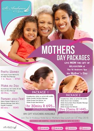 AntiAgeing Facial & Indian Head Massage 1.5hrs R760 & more Mothers Day Packages ...