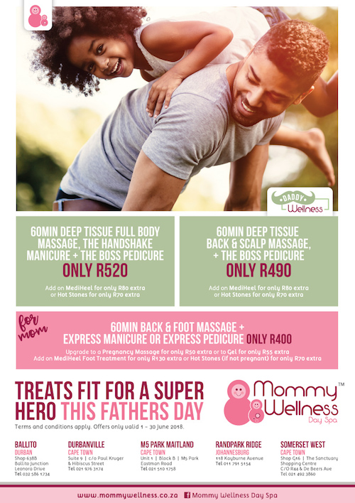 For Dad: 60min Deep Tissue Full Body Massage, The Handshake Manicure & The Boss Pedicure R520