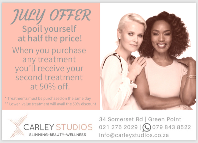 When you purchase any treatment you'll receive 50% off your second treatment