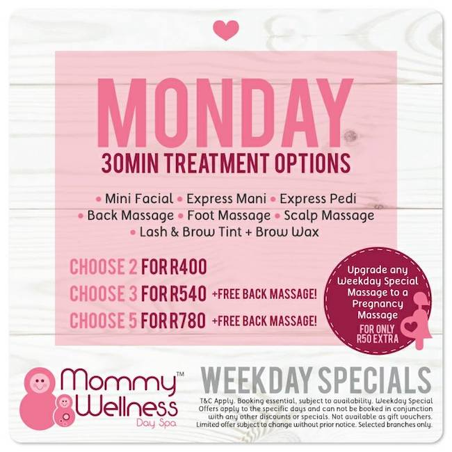 Mondays: 30min Treatment Options