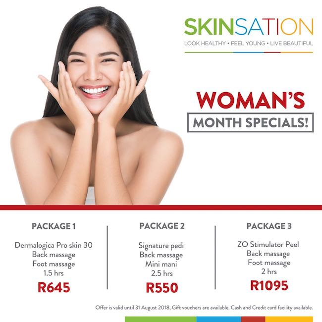 Package: Dermalogica Pro Skin 30, Back Massage, Foot Massage 1.5hrs R645