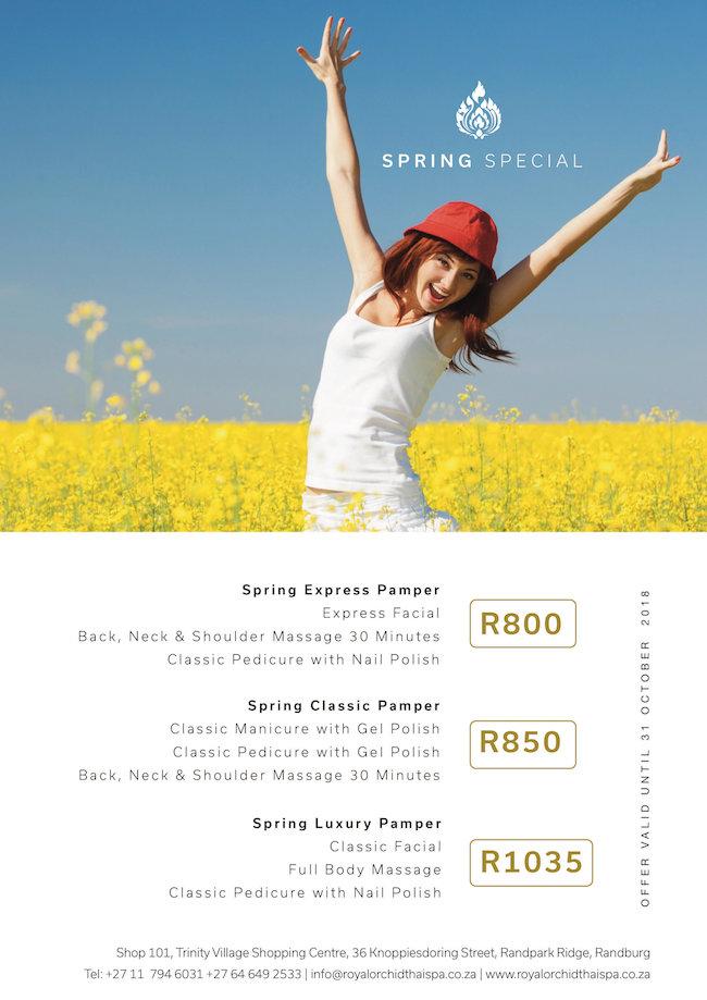 Spring Pamper Specials: Spring Express Pamper - Express Facial, 30min Back, Neck, Massage, Classic Pedi with Nail Polish