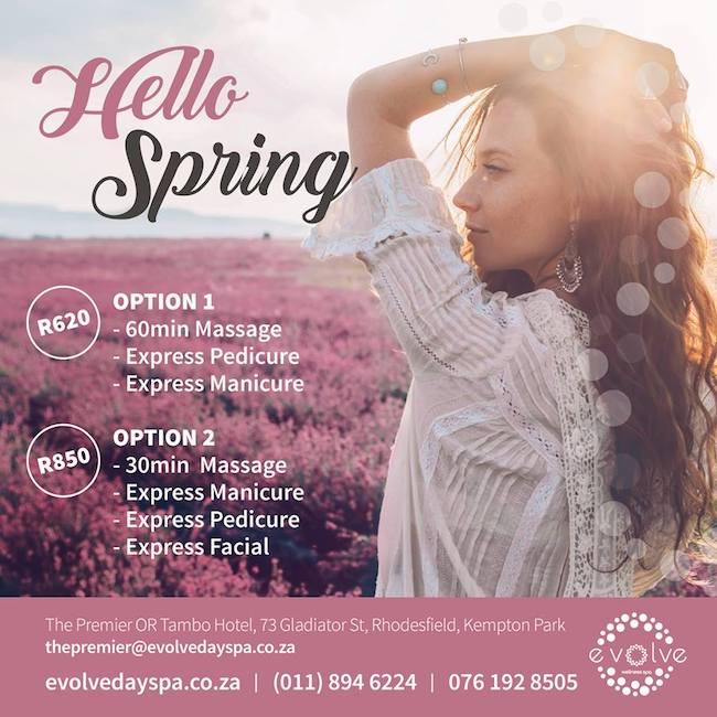 Spring Package: Massage, Mani & Pedi R620/R850