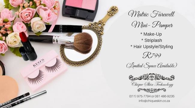 Matric Farewell Pamper R799