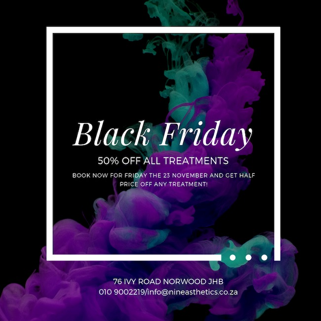 Black Friday: 23 Nov - 50% Off all Treatments