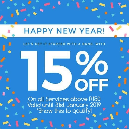 15% Off all Services