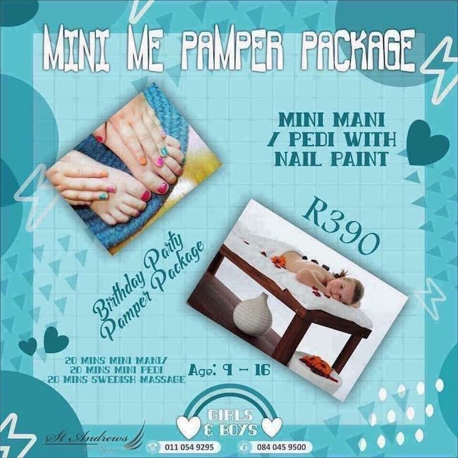 Mini Me Pamper Package R390