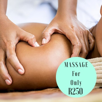 Limited time only! MASSAGE FOR ONLY R250