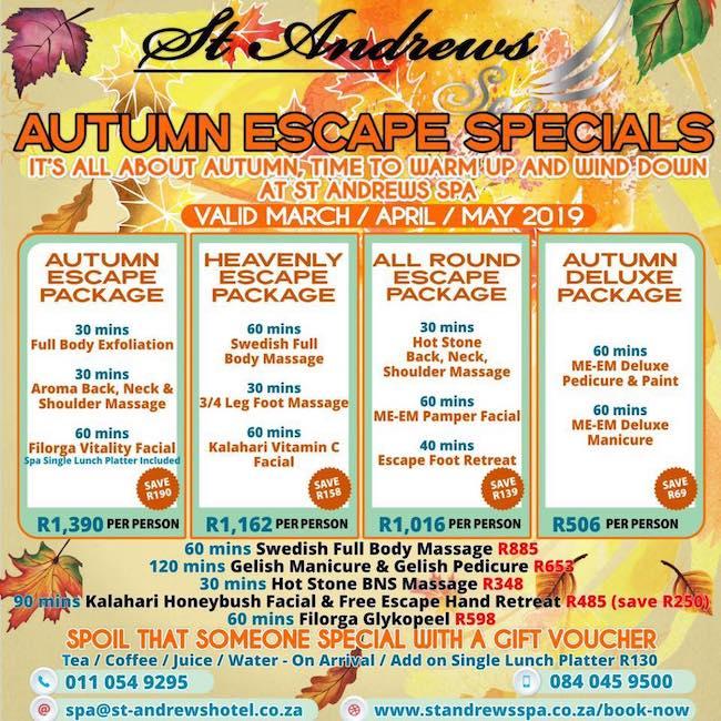 Autumn Escape Specials