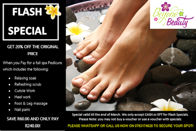 Full Spa Pedicure R240
