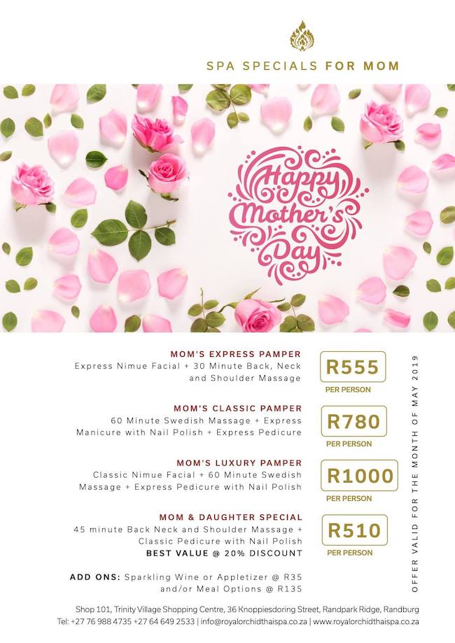 Mothers Day Specials
