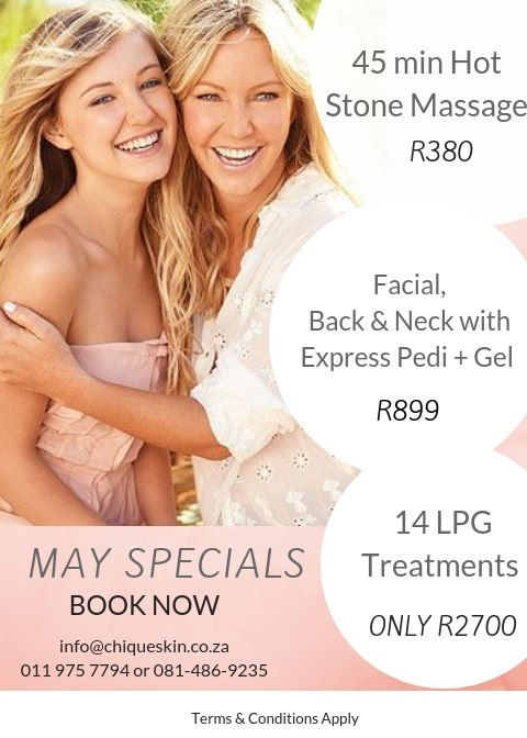 May Specials! 45min Hot Stone Massage R380, and more - click here to enquire!