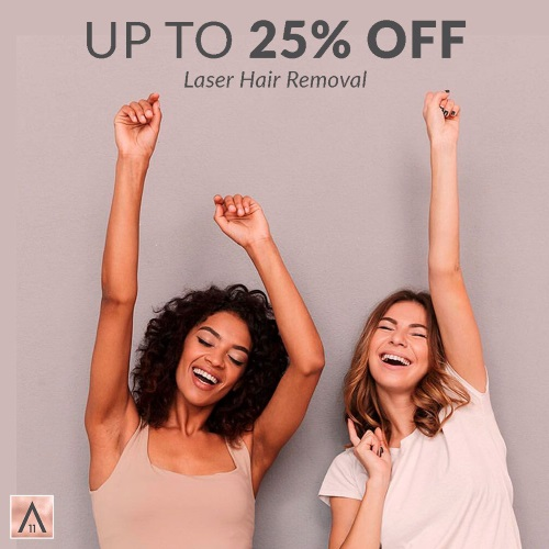 Save up to 25% on a pre-paid package of 3 sessions of Underarm or Brazilian or both!