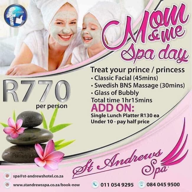 Mom & Me Spa Day R770pp