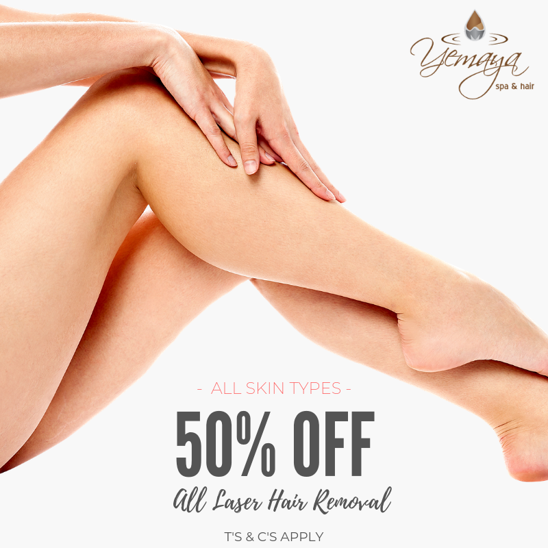 July Special Offer: Get 50% OFF All Laser Hair Removal!