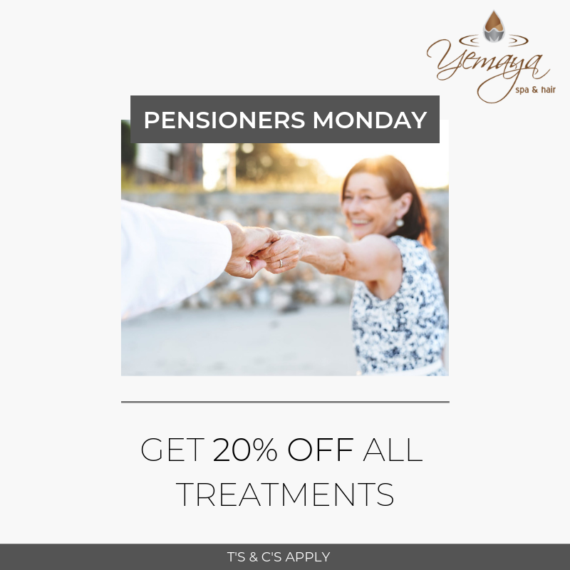 Pensioners Monday: Get 20% OFF All Treatments!