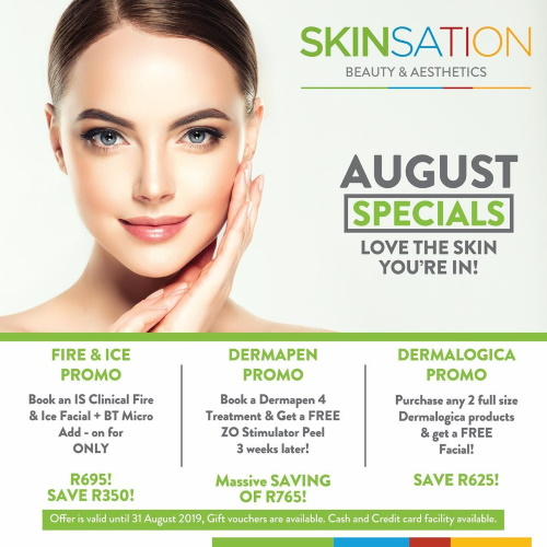 This August SPECIAL: Dermapen Promo, Fire&Ice and Dermalogica Promo