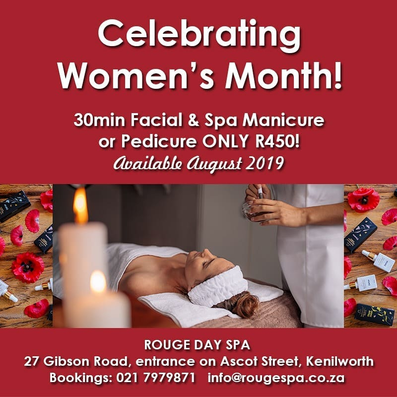 Celebrating Women's Month with a 30min facial and spa mani or pedi for only R450!