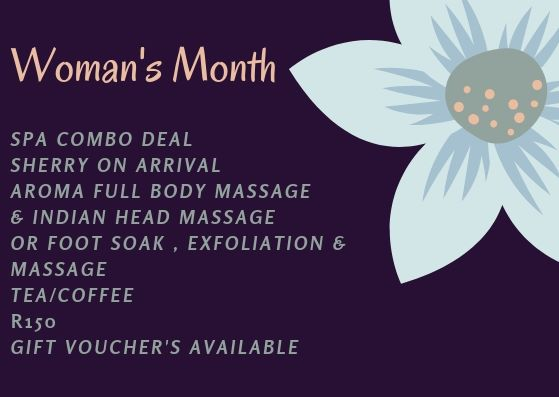 Take advantage of our Women's Month massage spoiling!