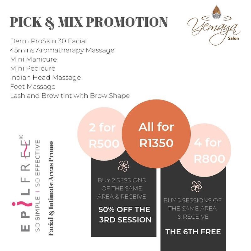 """Need some """"Me Time"""" but not sure what to choose? Customise your Time with our Pick and Mix Promotion"""