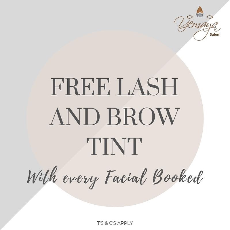 Book your 60min Facial with us Today and Receive a FREE Lash & Brow Tint