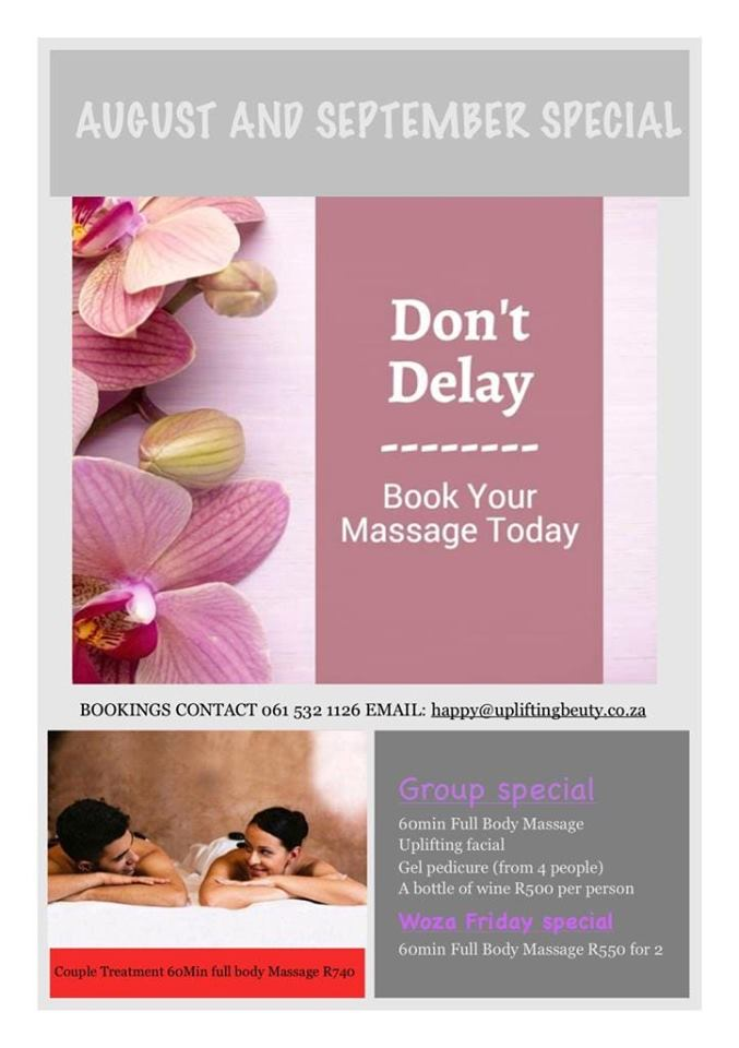 Don't miss this incredible group massage, facial and pedicure special