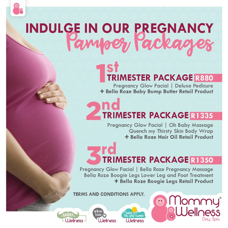 Don't miss out on these amazing trimester pamper packages. Perfect for expectant mommies.