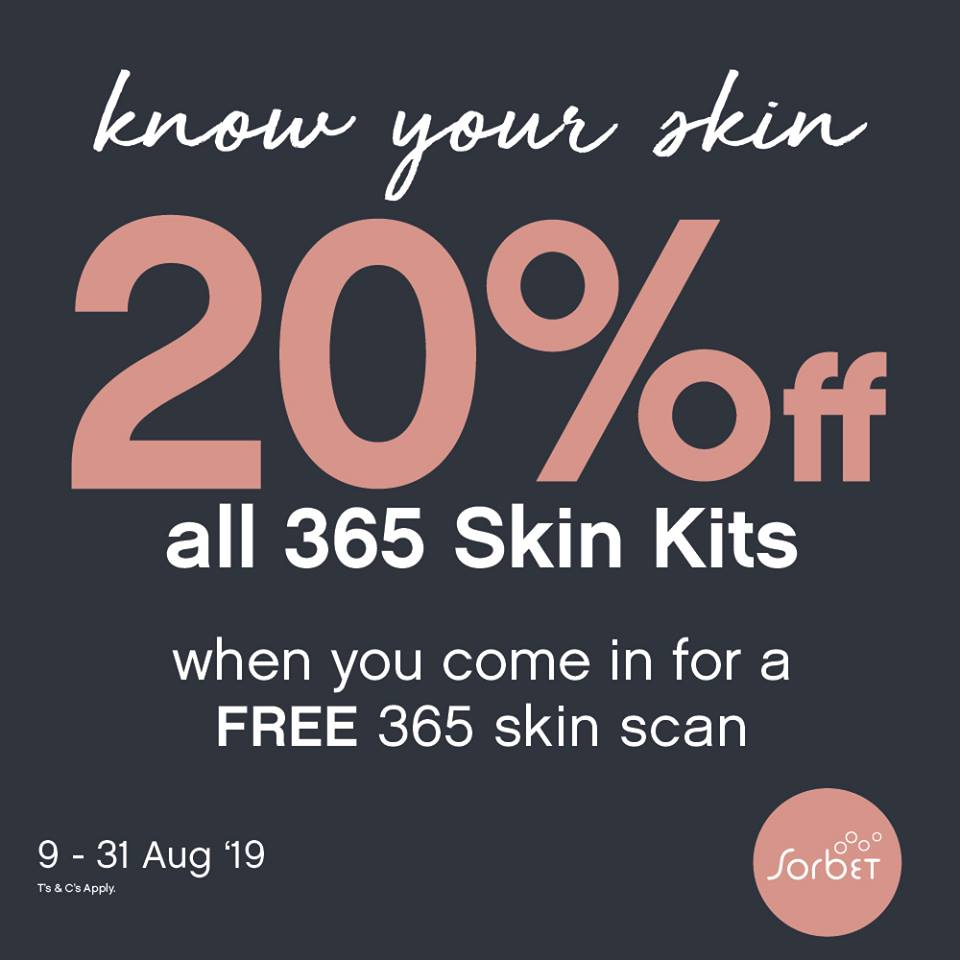 Invest In Your Skin the right way, correct & effective prescriptions for every skin, every day.This month, we're giving our Sorbies 20% off their 365 Skin Kits purchases.