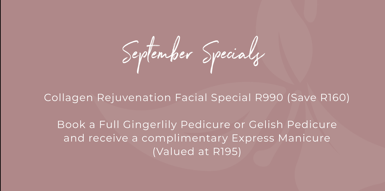 Get that Spring feeling with our collagen rejuvenation facial special for only R990! Book now!