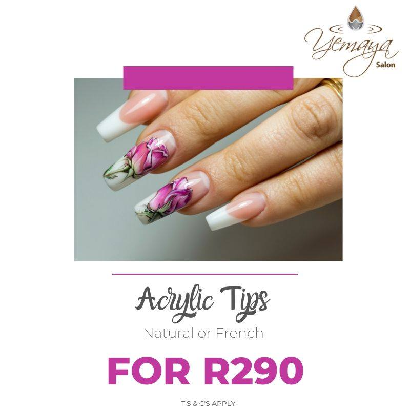 Have you always wanted long nails but struggle to grow them? Don't miss our Acrylic tip promotion only R290