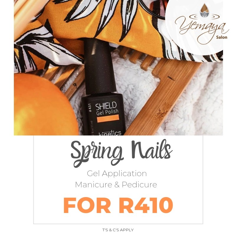 As the winter fades and summer sandals replace winter boots, it's the perfect time to update your mani pedi for only R410