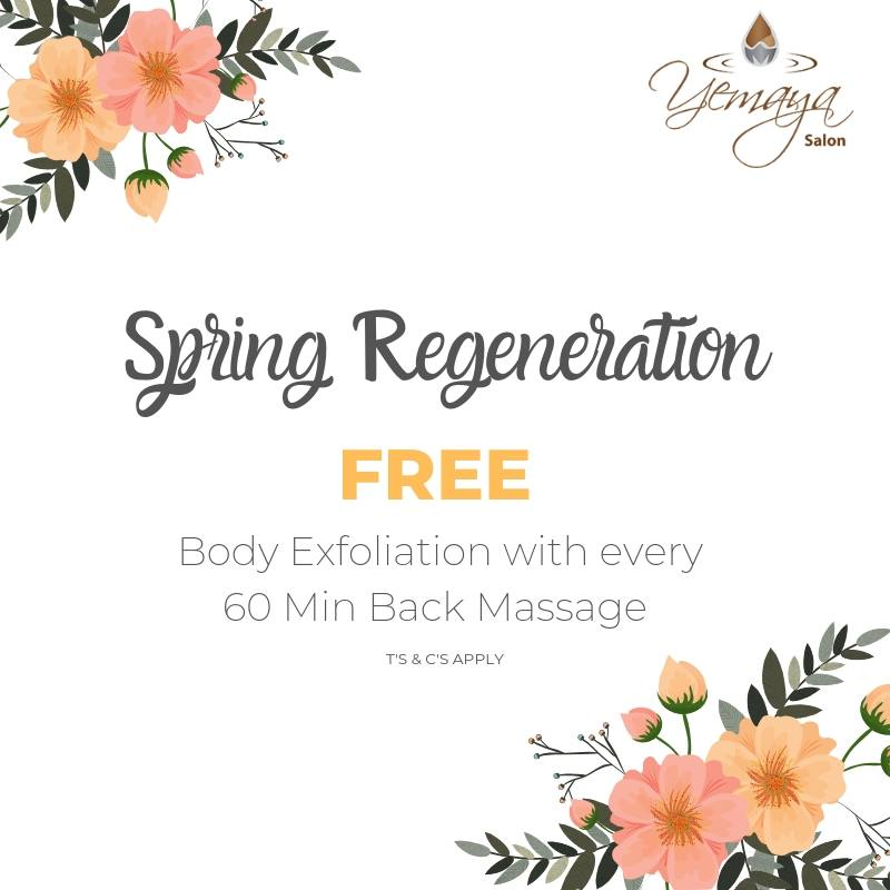 Achieve healthy looking skin by receiving a FREE body exfoliation with every back massage booked