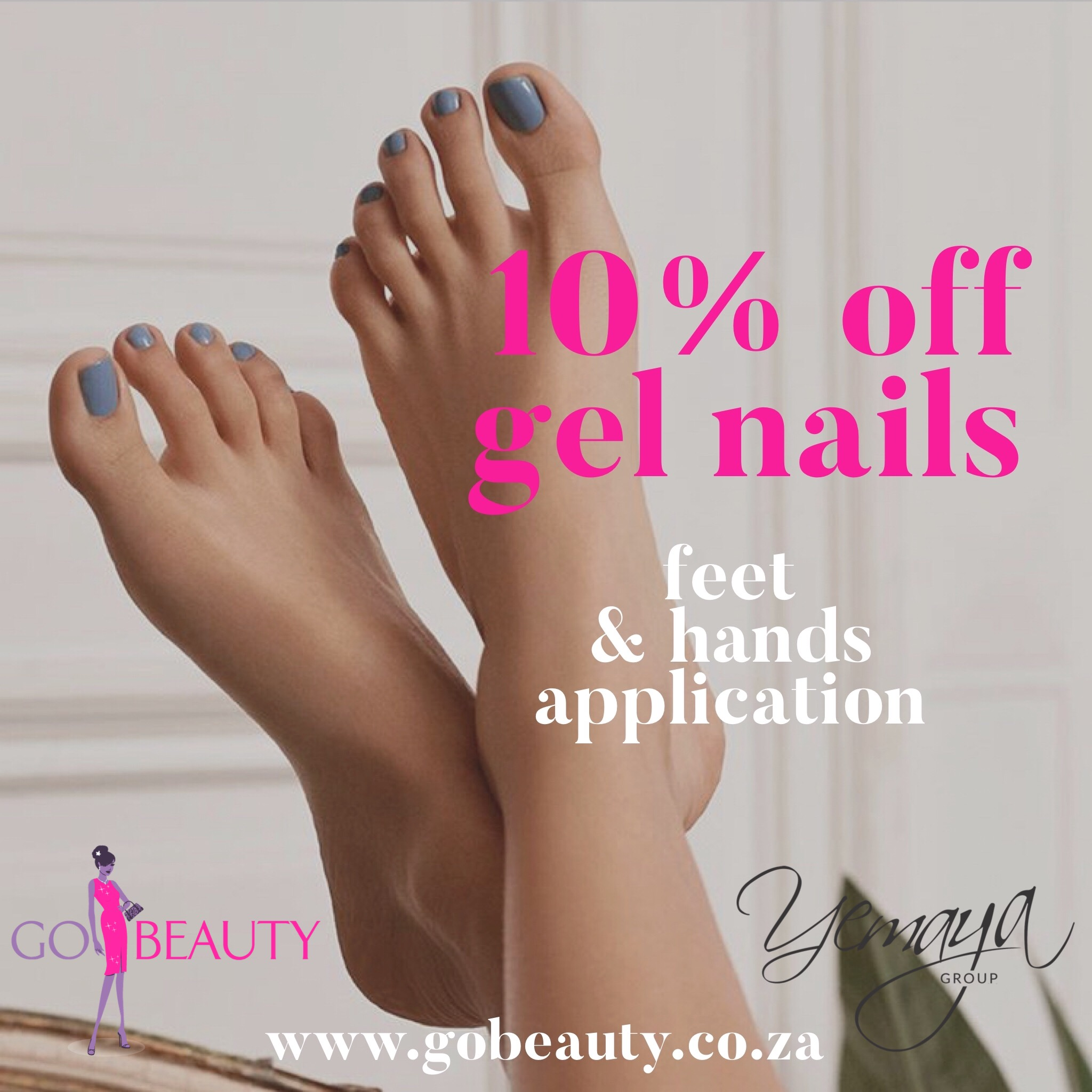 Spring treat for you. Receive 10% off your next gel mani and pedi.