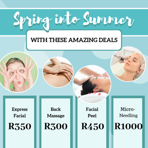 Spring into Summer Specials! Amazing savings from Facials, Back Massages and Micro-Needling