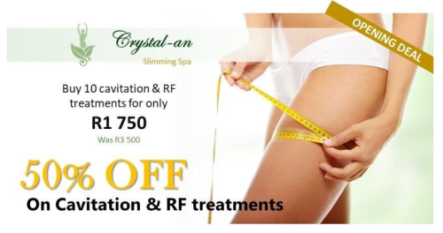 50% Off Cavitation and RF Treatments - now only R1750 for 10 treatments