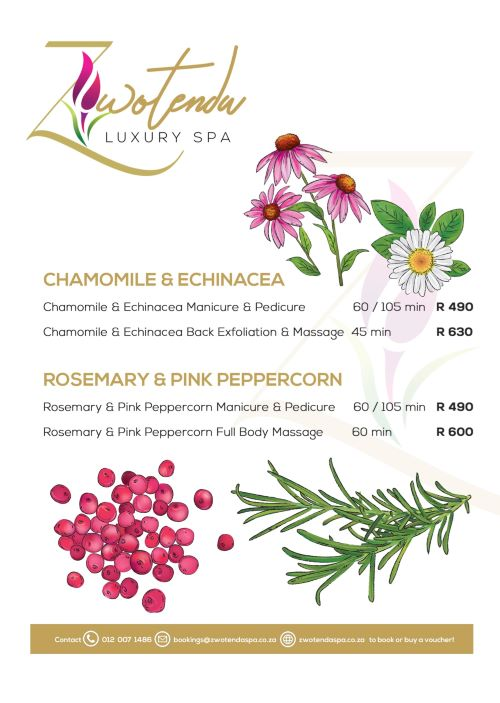 Enjoy a Rosemary & Pink Peppercorn  Mani & Pedi for only R490