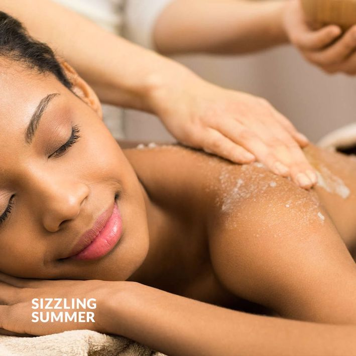 Sizzling Summer Time 180 min R1250 p/p.Full Body Exfoliation, Full Cocoon Body Treatment while enjoying a foot massage. A Full Body Rinse a Full Body Massage and a Matsimela de Lux Pedicure