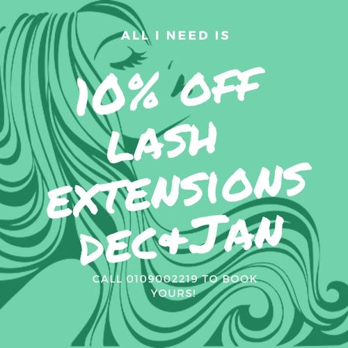 Enjoy 10% of all Lash Extensions!
