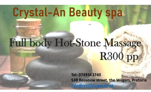 Enjoy a Full Body Hot Stone Massage for only R300 pp