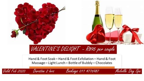 Spoil yourself and your loved one with a couples Valentine's Delight for 2 hours of pampering