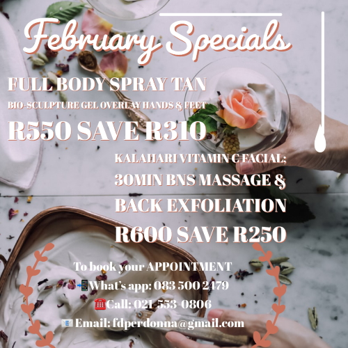 Save up to R310 with our Fab February specials!