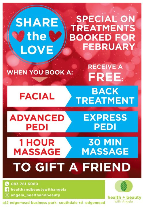 Receive a voucher to gift to a friend when booking treatments during the month of February