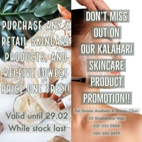 Product Promotion now on with Per Donna Beauty & Wellness Clinic