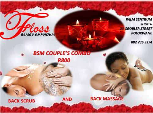Enjoy a Couples Back Scrub and Back Massage for only R800