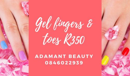 Spoil yourself with Gel Fingers and Toes for only R350 and get Valentines Day Ready!