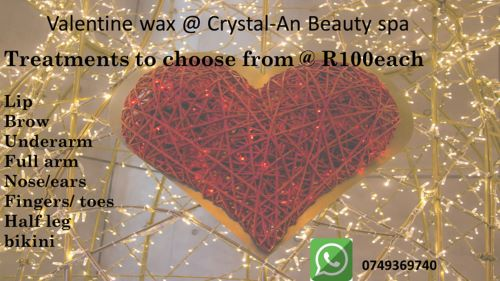 Enjoy Valentines Treatments from only R100 each