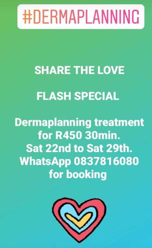 Book your Dermaplanning treatment for R450 only now!