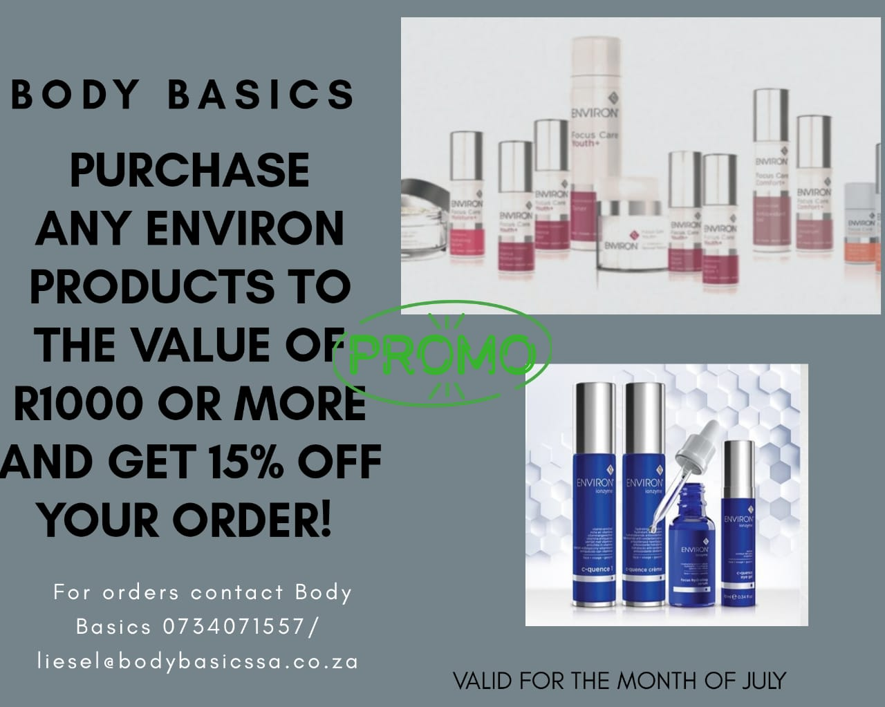 15% less on Environ products